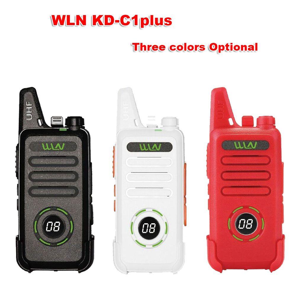 New WLN KD-C1plus mini Walkie Upgraded Radio KDC1plus UHF 400-520MHz slim transceiver better than KD-C1 two way radios