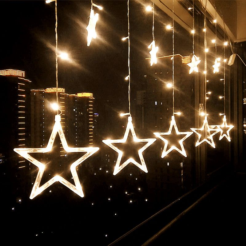 Holiday Lighting 4M 138LED Christmas Lights Outdoor Snowflake Fairy Curtain LED String Light For Home Party New Year Decoration