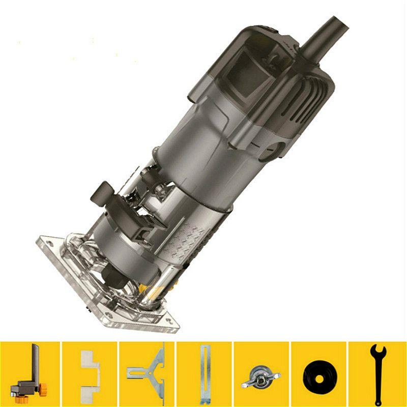 33500 rpm 1/4 Elektrische Hand Trimmer Holz Stoßen Maschine Carving Möbel Dianmu Fräsen Laminator Router 220 v 550 watt