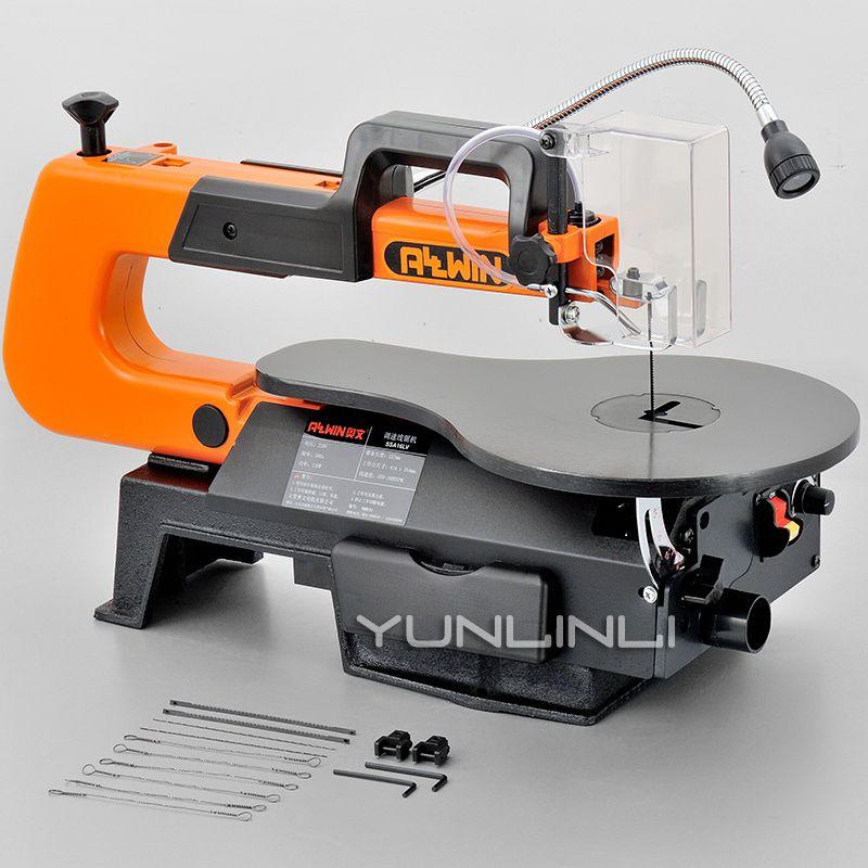 Tisch Kreissäge Jig Sah Elektrische Einstellbare Geschwindigkeit Winkel Grinder Draht Sägen Carving Maschine Zimmerei Holz Schneiden Maschine