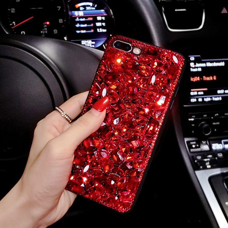 Red Bling Kristall Frau Handgemachte Geschenk Telefon Abdeckung Fall Für Google Pixel/Pixel XL/Google Pixel 2/Pixel XL 2