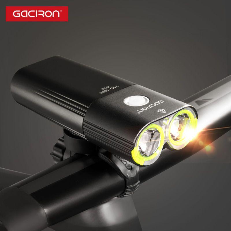 Gaciron V9D-1600 Fahrrad Front Licht Wasserdichte 1600 Lumen Wiederaufladbare 5000 mah Power Bank Taschenlampe fahrrad zubehör