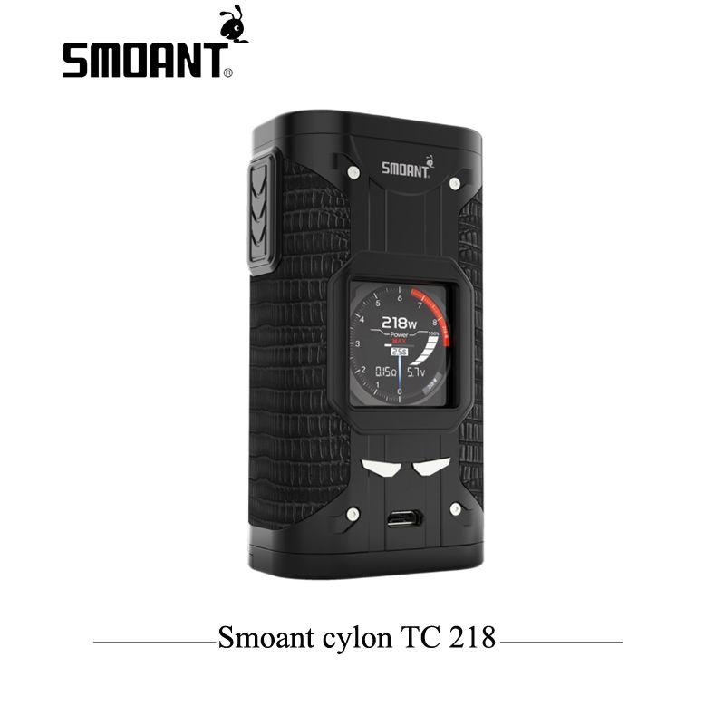 Original Elektronische Zigarette TC Mod Smoant cylon TC 218 watt Box Mod 218 E Zigarette mod mit 1,3 zoll bildschirm Verdampfer Vaper