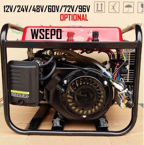 WSE-3KW Smart Version (Automatische Start) benzin DC Batterie Lade Generator System (12 v/24 v/36 v/48 v Angepasst) für E-Fahrzeuge