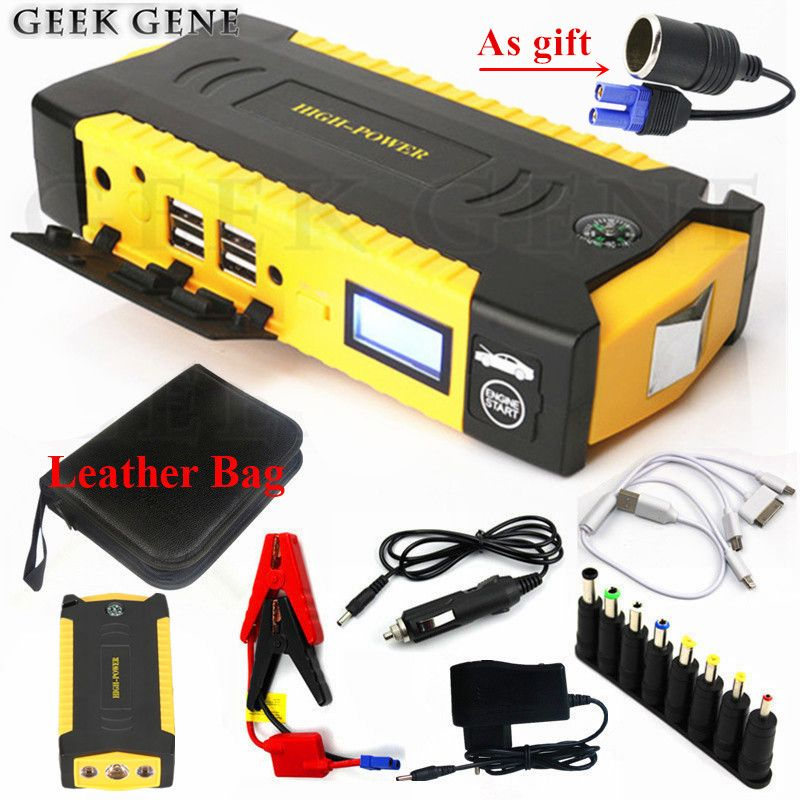 Multi-Function 16000mAh Car Jump Starter 600A 12V Portable Starting Device Power Bank Car Charger For Car Battery Booster Buster