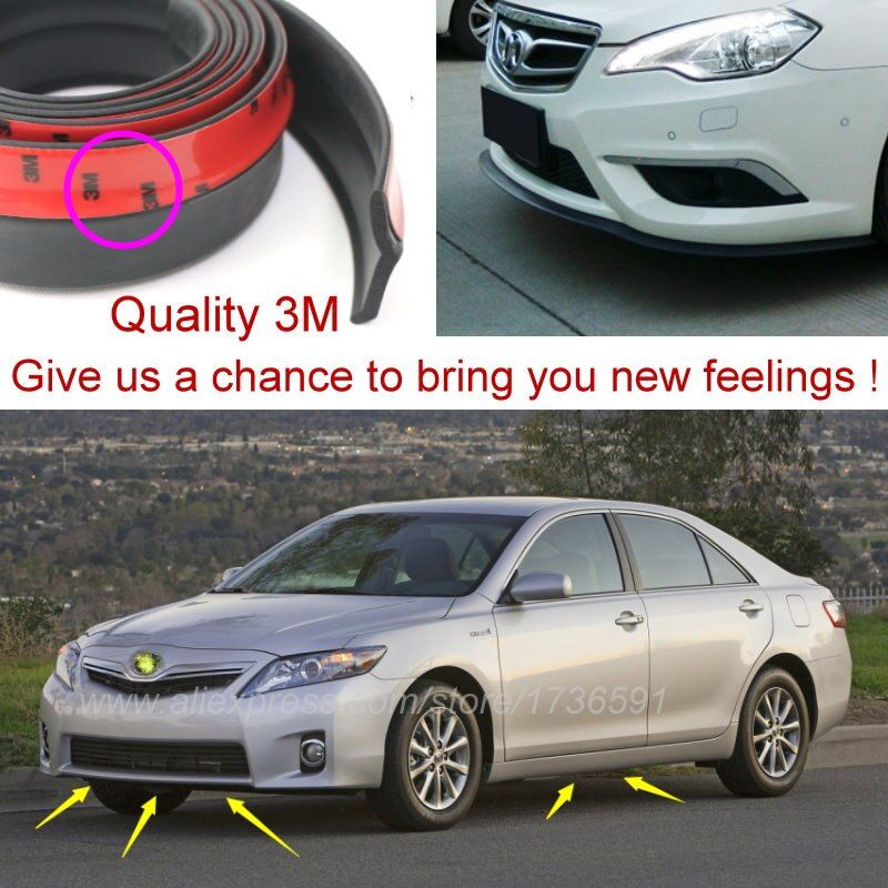 Bumper Lip Deflector Lips For TOYOTA Camry V XV 1990~2015 / Front Spoiler Skirt For Auto to Car Tuning View / Body Kit / Strip