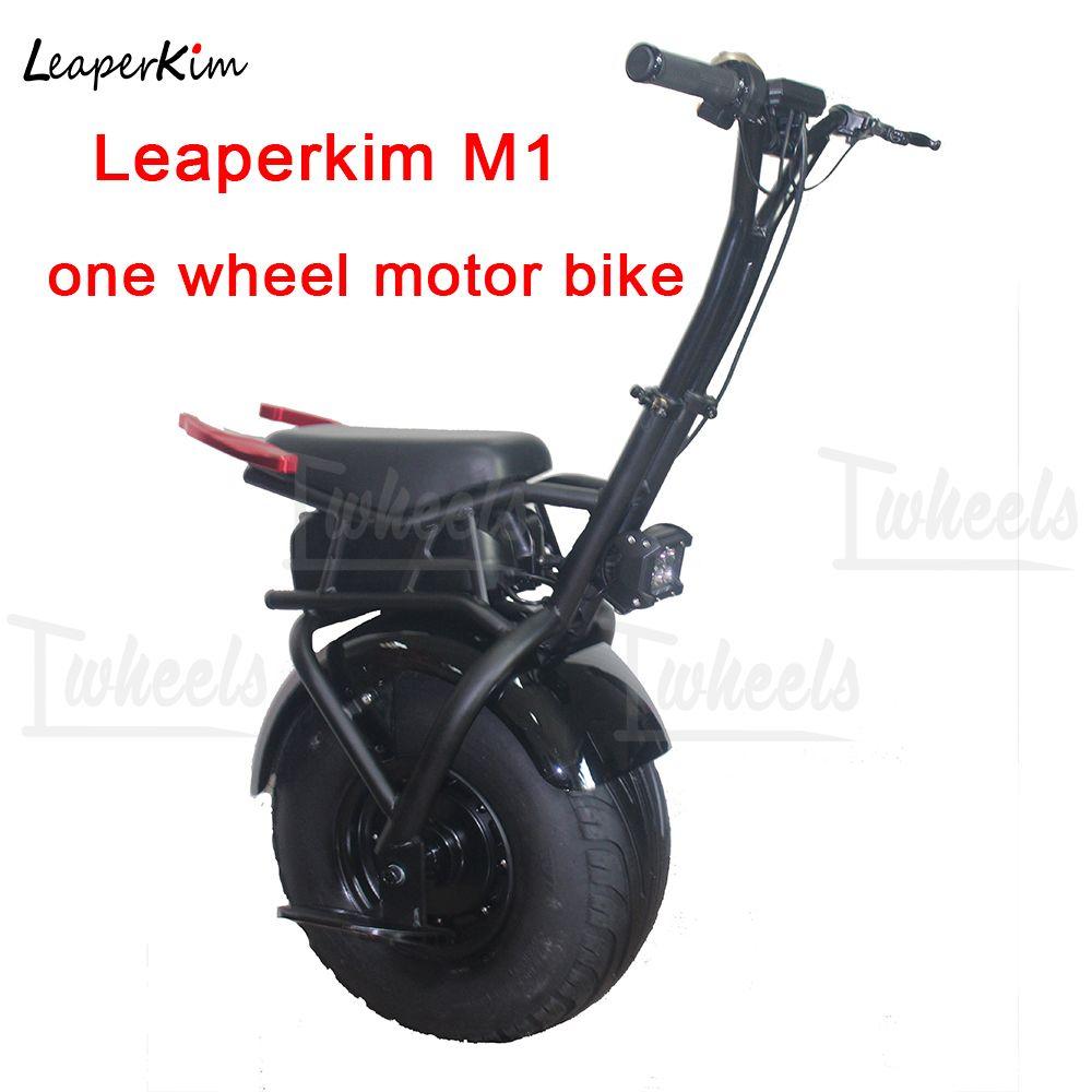 LeaperKim M1 elektrische einrad elektrische motorrad breite reifen 1000 W motor einzelnen rad motorrad Selbst Ausgleich roller