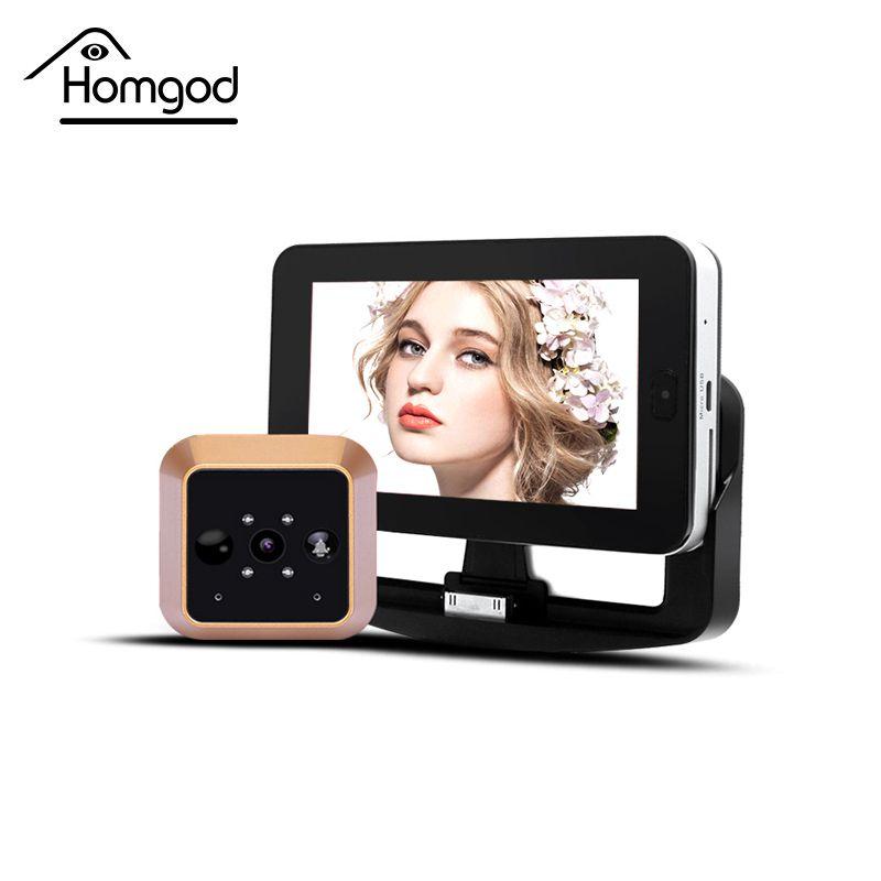 4.3 дюйма HD Сенсорный экран видео Запись smart дверной глазок Камера Беспроводной движения PIR Сенсор Smart Видео дверной глазок Камера