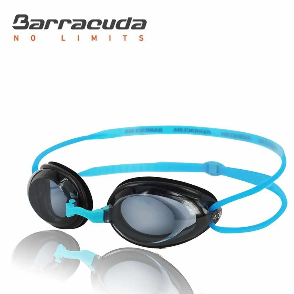 Barracuda Dr.B Optical Swim Goggle Hydrodynamic Profile Frame Silicone Seals Anti-fog UV Protection for Adults BLUE #2195