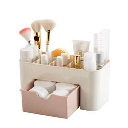 Hoomall Plastic Cosmetic Organizer Jewelry Box Makeup Storage Box With Small Drawer Home Desk Sundries Storage Containers