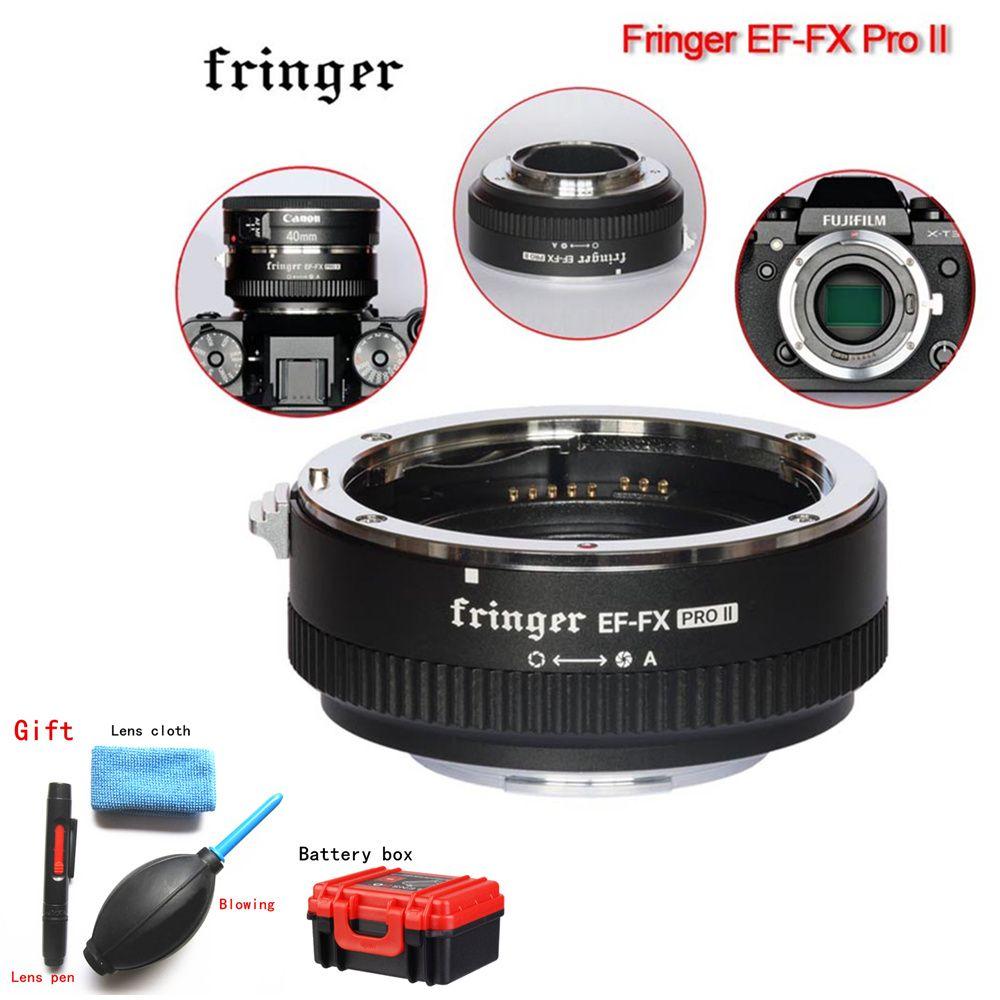 Verletzers EF-FX PRO II Autofokus Adapter zu Fujifilm Halterung für Canon EF Objektiv Kompatibel FÜR Fujifilm X-E EF-FX2 PRO x-H X-T X-PRO