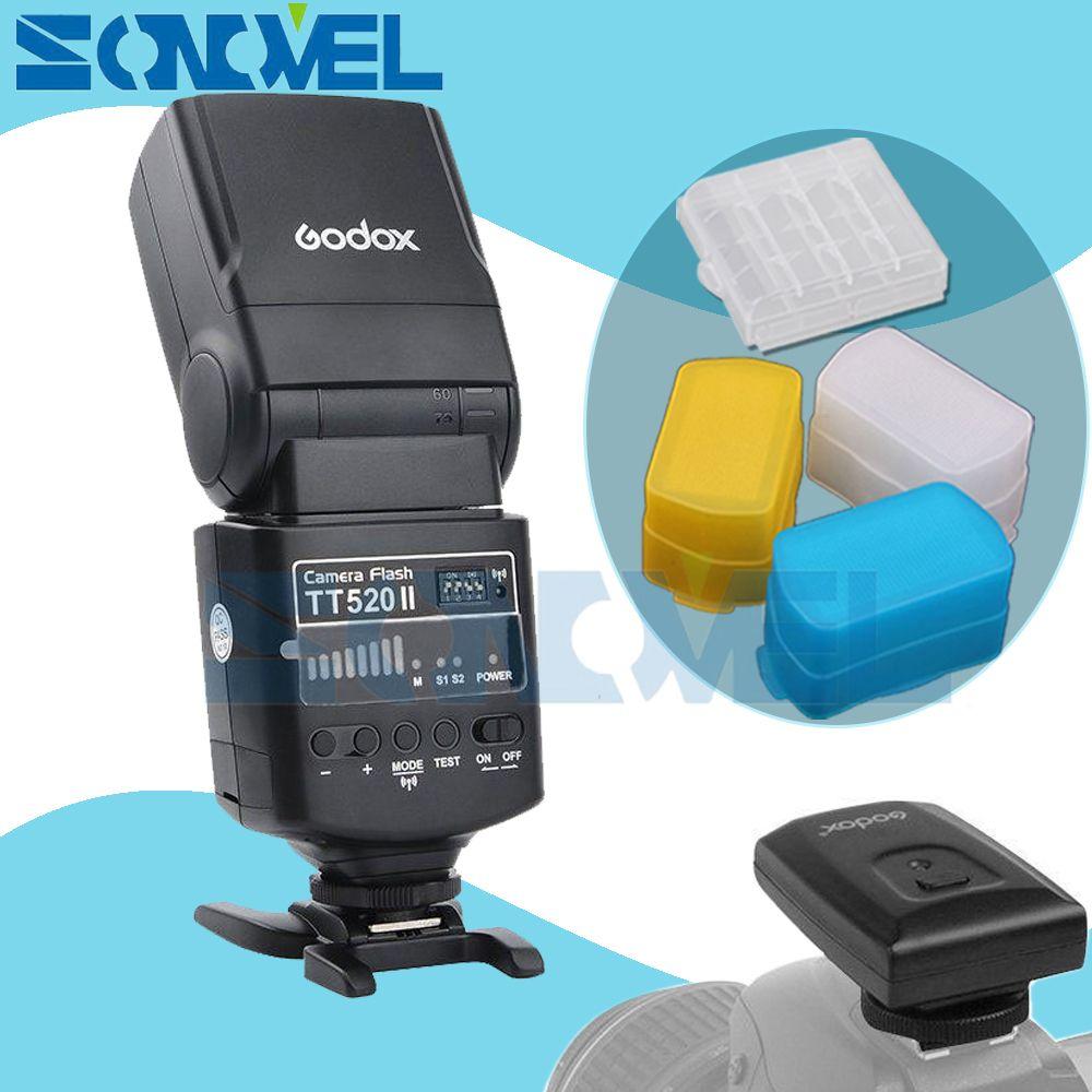 GODOX TT520II TT520 II Flash Speedlite For Nikon D7500 D7200 D7100 D5600 D5500 D5300 D3400 D3300 D810a D750 D610 D500 D5 D4s DF