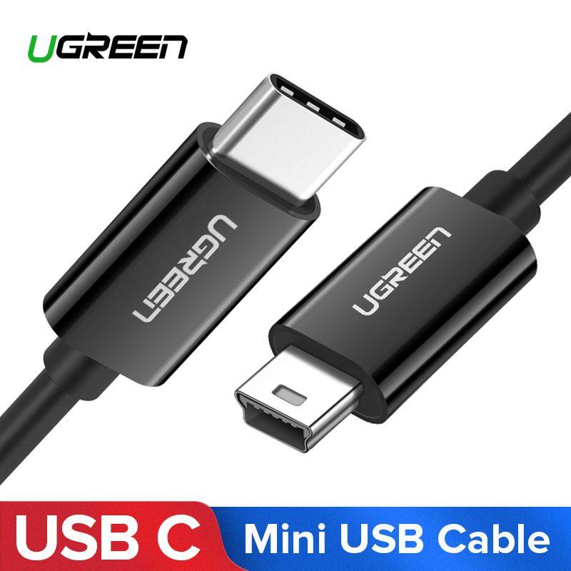 Ugreen USB C zu Mini USB Kabel Thunderbolt 3 Mini USB Typ C Adapter für MacBook pro Digital Kamera MP3 player HDD Typ-c Kabel