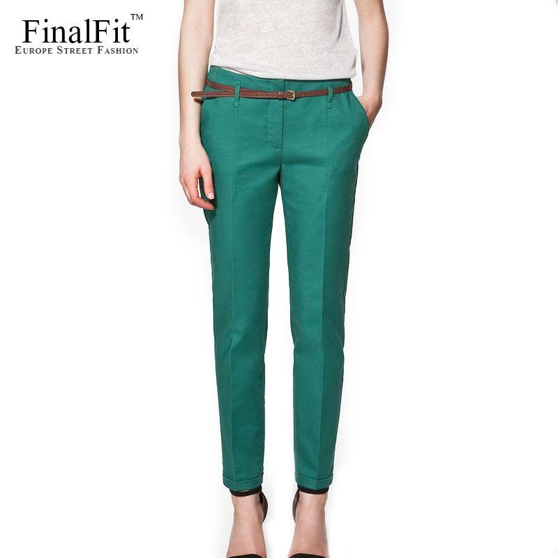 Pencil Casual Pants Women Autumn Spring Summer <font><b>pantalon</b></font> femme Cuffed Office Lady Suit Pants Women Trousers