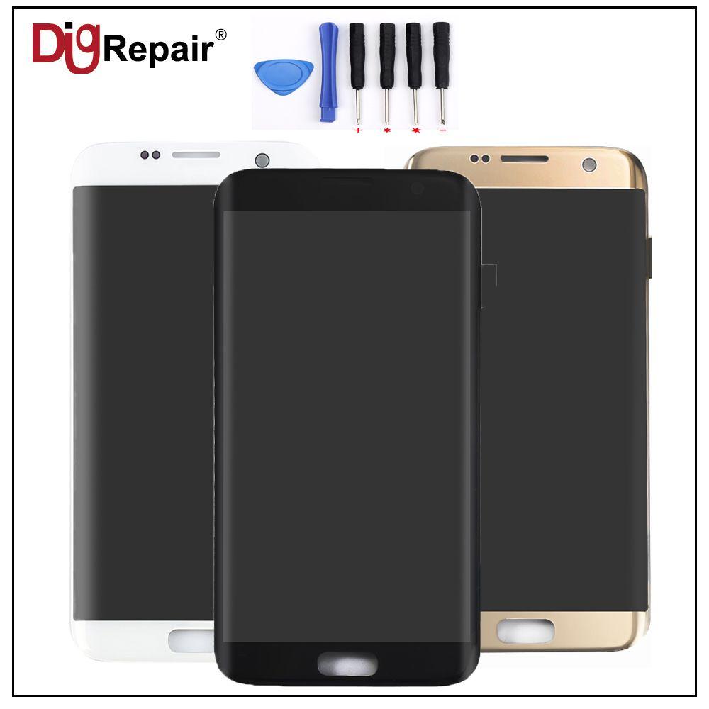 AAA Schwarze Gold Weiß für Samsung Galaxy G935F G935T G935A G935FD LCD Display Touchscreen Digitizer Assembly Ersatzteile