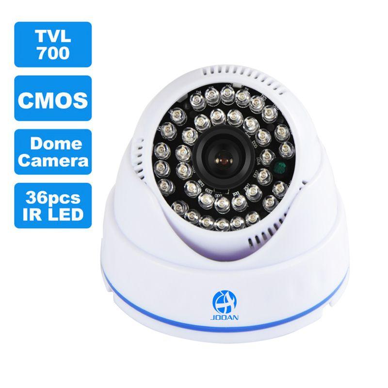 JOOAN 700TVL CCTV Caméra 36 pcs IR LED Bonne Nuit Vision Sécurité À La Maison Vidéo de Surveillance Mini Intérieur Dôme Caméra de Surveillance