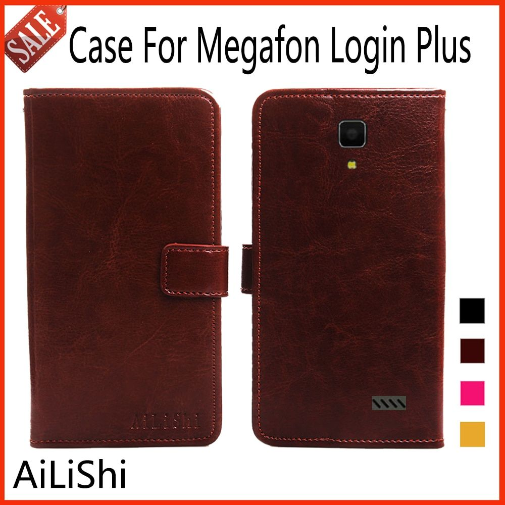 AiLiShi Luxury Leather Case For Megafon Login Plus Case Book Design Flip Protective Cover Phone Bag Wallet 4 Colors!