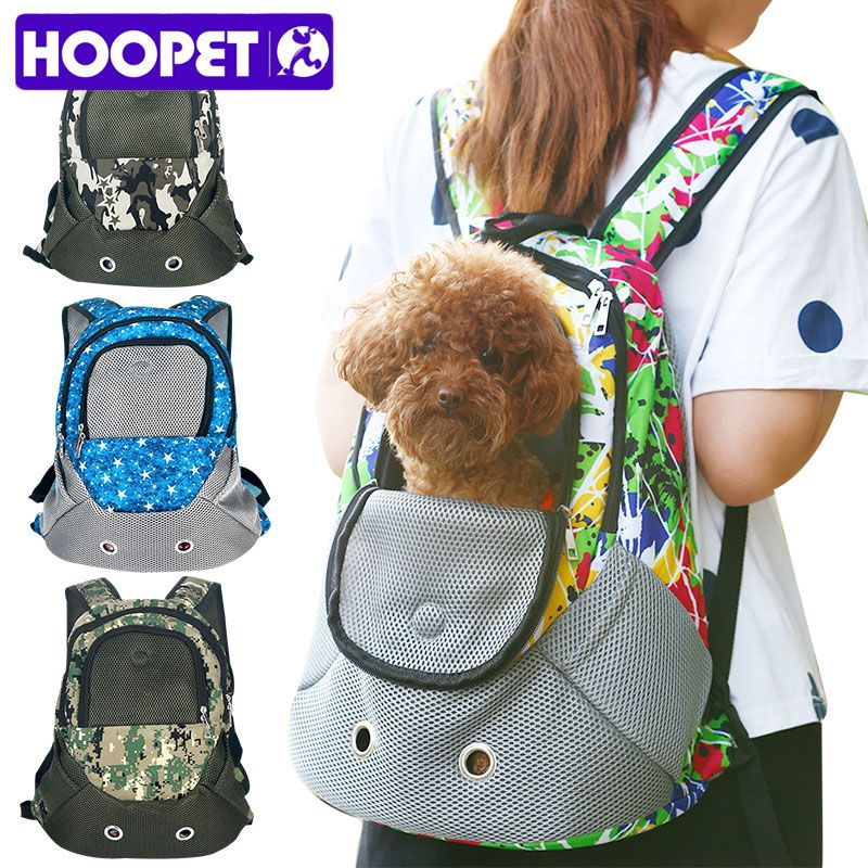 HOOPET Pet Carrier Shoulders Back Front Pack Dog Cat <font><b>Travel</b></font> Bag Mesh Backpack Head out Design <font><b>Travel</b></font> Adjustable Shoulder Strap