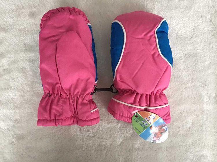 Chilren' invierno cálidos guantes de esquí, guantes de niños/niñas sprot al aire libre guantes impermeables completo/de cinco dedos guantes/mitones