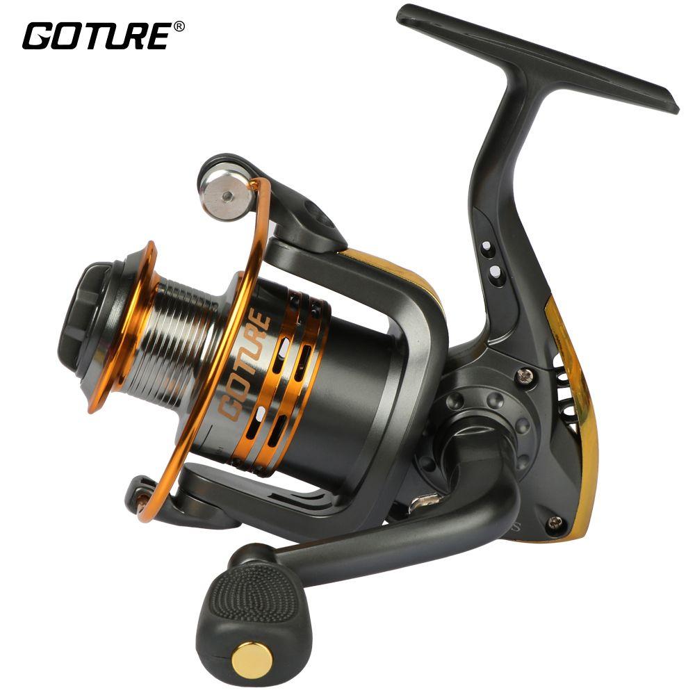 Goture Металл Катушка Спиннинг Рыбалка катушка 6BB превосходное колеса для пресной воды морской Рыбалка 500 1000-6000 серии