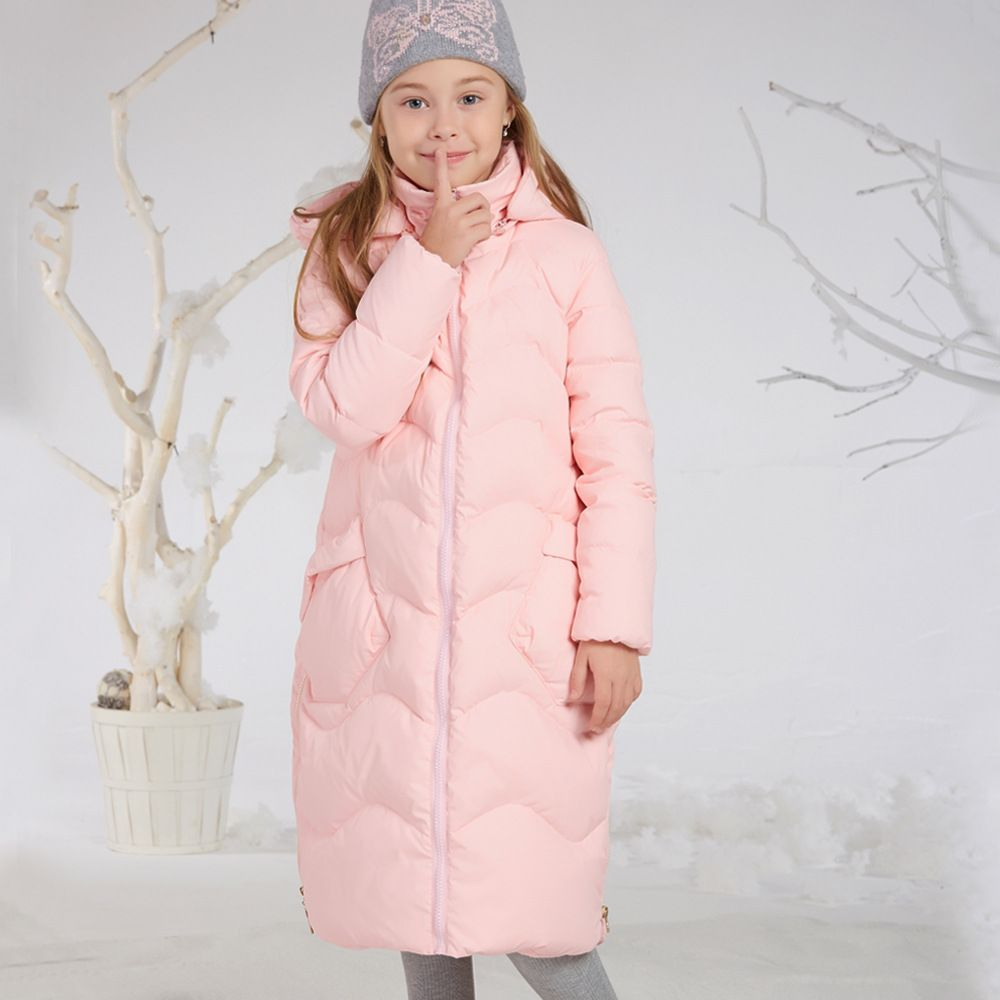 Princess Kids Girls Winter Jackets and Coats 80% White Duck Down Warm Thick Hooded Long Down Coats For Teenage Girl Clothes 6-14