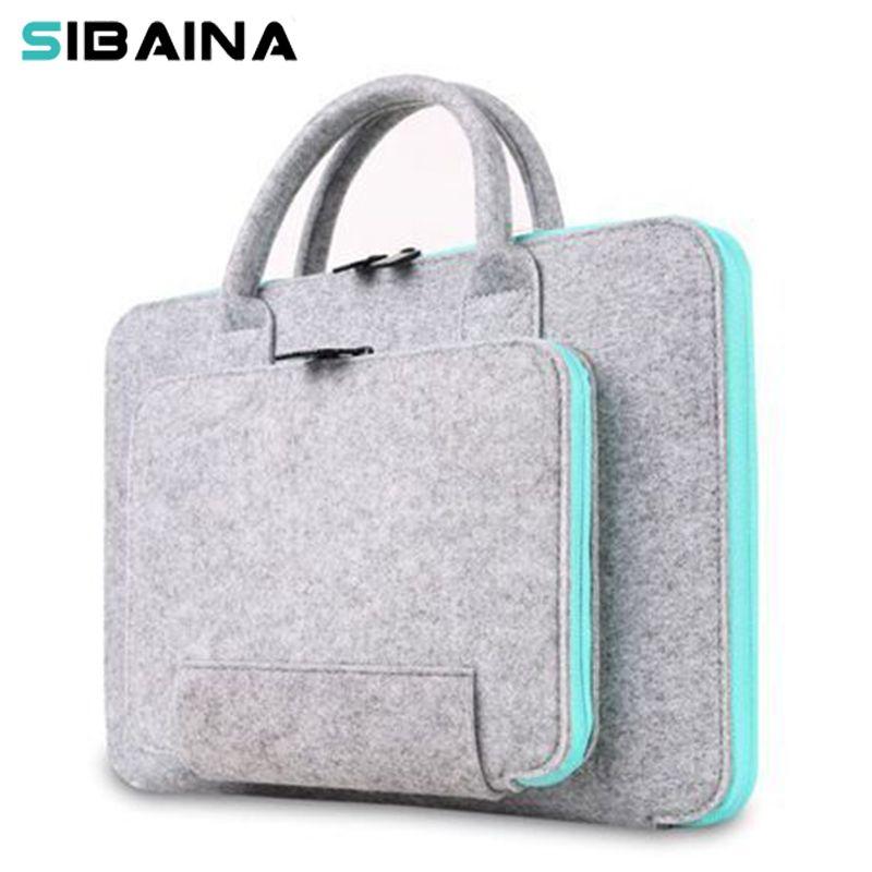 Feutre de laine universel ordinateur portable sac pour ordinateur portable étui 11 12 13 15 15.6