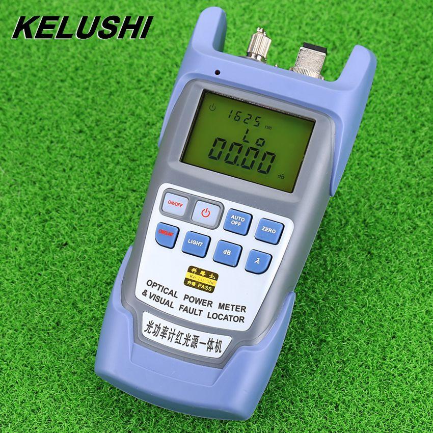 KELUSHI All-in-FTTH Fiber Optische Leistungsmesser-70 Bis + 10dbm Und 10 mw 10 km Faser Lwl-kabeltester Visual Fault Locator
