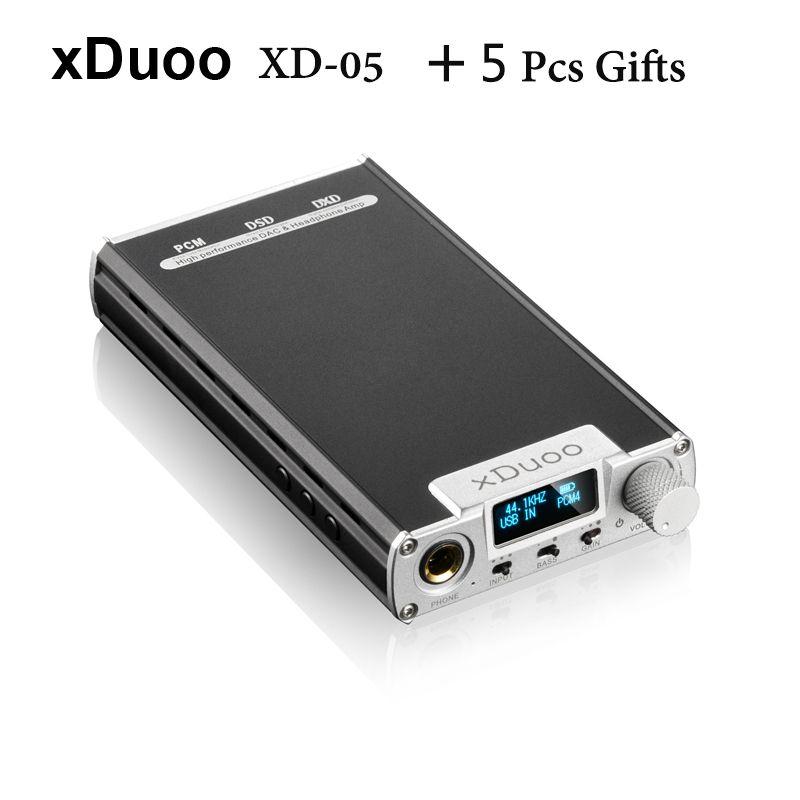 2016 neueste XDuoo XD-05 Tragbare Audio Dac-kopfhörerverstärker AMP Unterstützung Native DSD Dekodierung 32bit/384 khz mit HD Oled-display