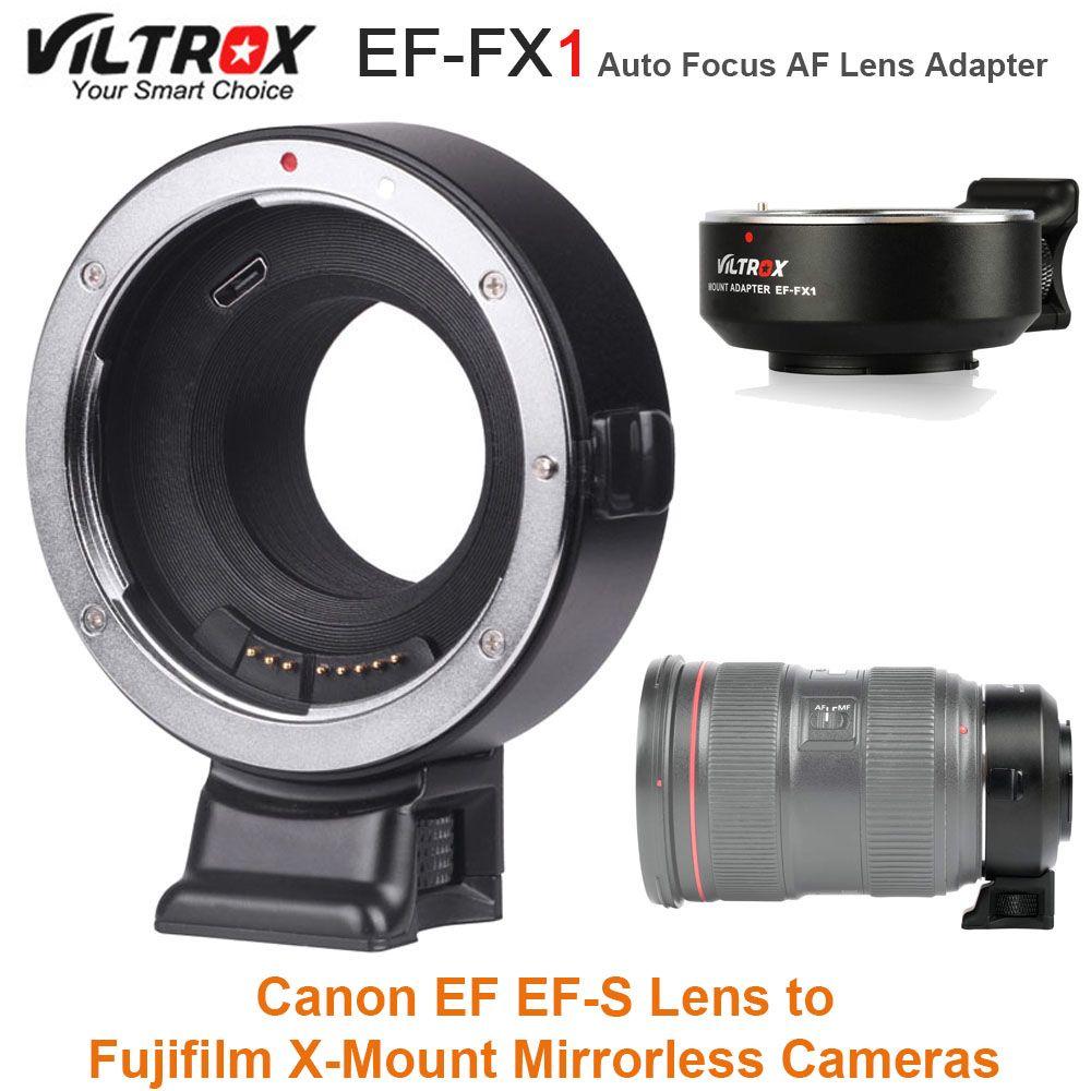VILTROX EF-FX1 Auto Focus AF Lens Adapter for Canon EF EF-S Lens to Fujifilm X-T1 X-T2 X-T10 X-T20 X-A1 X-A2 X-Mount Cameras