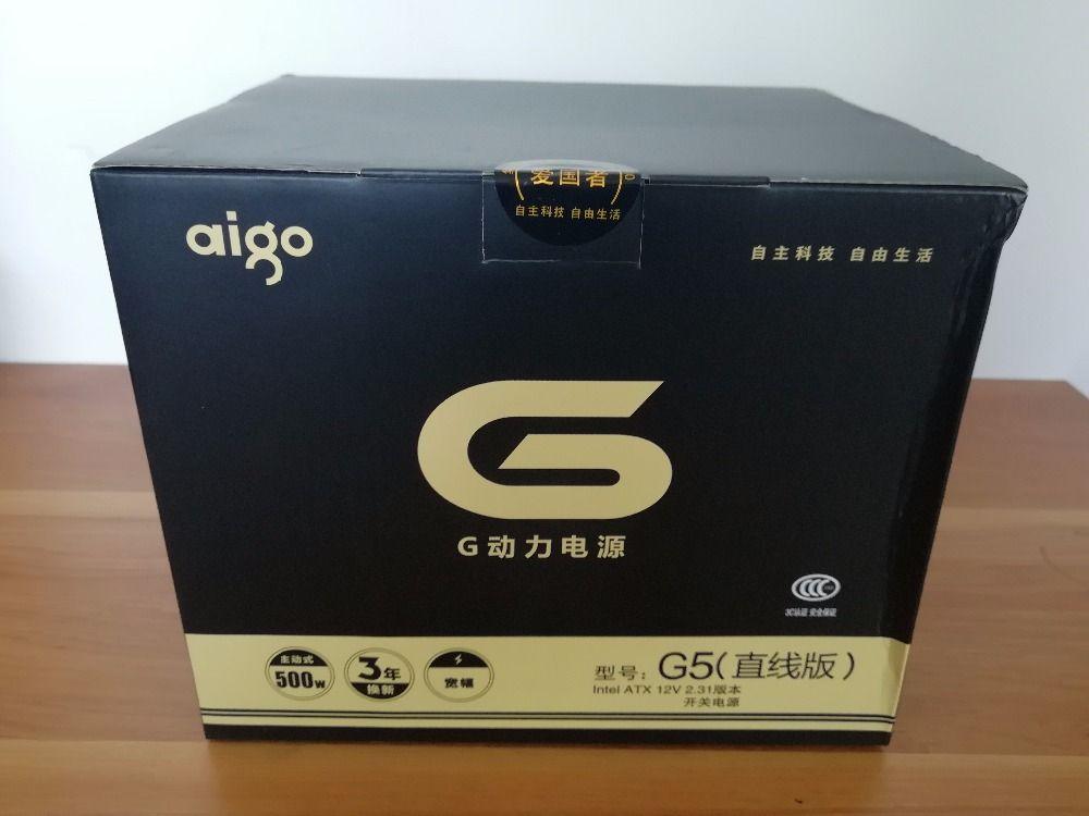 Aigo G5 active power supply Rated power 500W Max power 600W 12V atx pc desktop computer power supply fuente de alimentacion