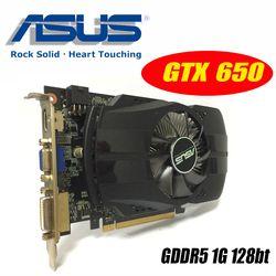 Asus GTX-650-FMLII-1GB GTX650 1 GB GTX 650 1g D5 DDR5 128 Bit PC escritorio tarjetas gráficas PCI Express 3,0 tarjetas gráficas de computadora