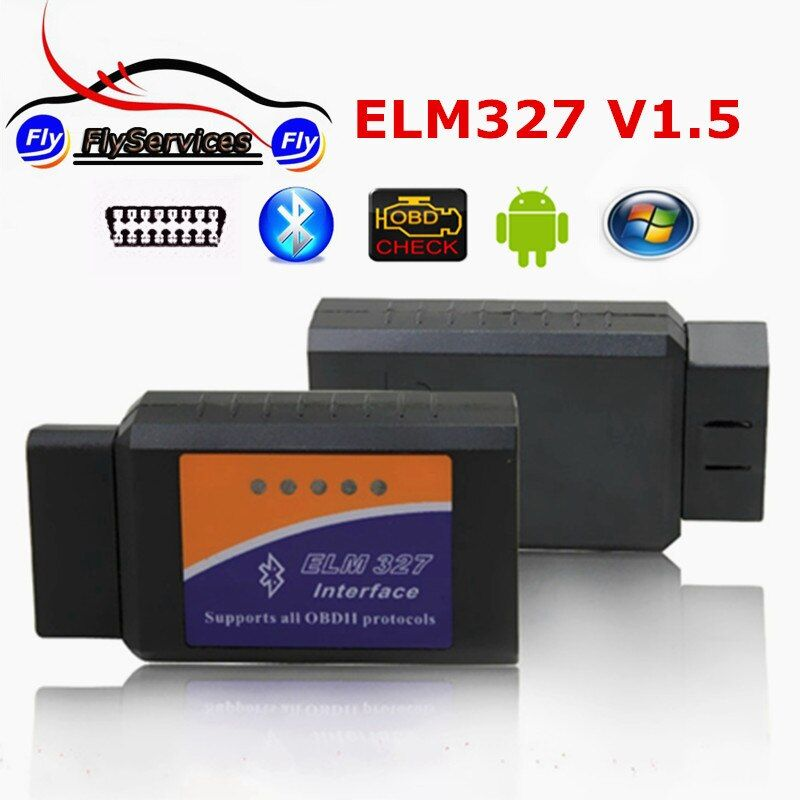 2017 New Release ELM327 Bluetooth V1.5 OBD2 OBDII Bluetooth ELM 327 V1.5 With 25K80 Chip Works On Android Torque Fast Shipping