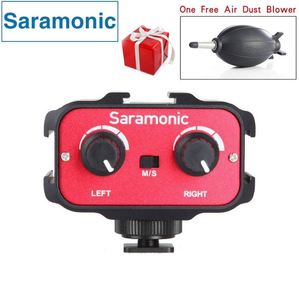 Saramonic SR-AX100 Universel Microphone Audio Adaptateur Mélangeur avec Stéréo & Double Mono 3.5mm Entrées pour Appareils Photo REFLEX et Caméscopes