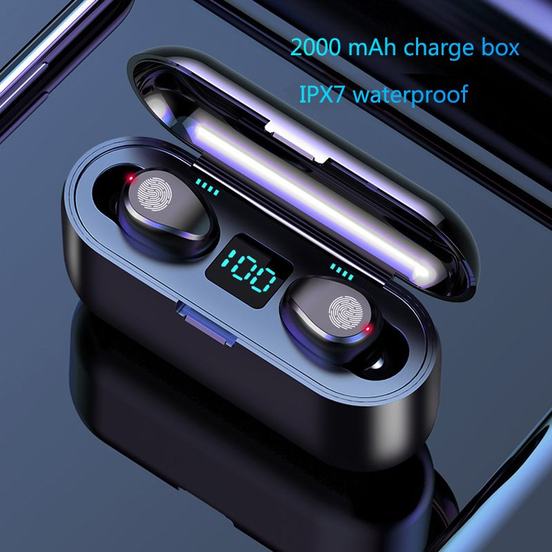 HATOSTEPED Bluetooth Earphones 5.0 TWS Mini Wireless Headset Power Display Earphone with charging box Sports Earbuds Gaming