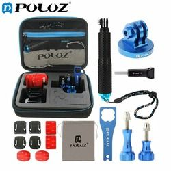 PULUZ 16 in 1 CNC Metal for Go Pro Accessories Combo Kit with EVA Case stocker for GoPro HERO6 /5 /5/4 Session 4 3+3 2 1 ,Xiaoyi