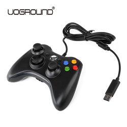 USB Con Cable Controlador de Juego Gamepad Joypad Negro Para Xbox Slim 360 joystick para oficial microsoft pc para windows 7/8/10