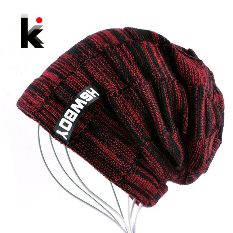 2017 Autumn And Winter Bonnets Hat For Men Women Knitted Plaid Beanies Skullies Keep Warm Add Velvet Caps Men Bonnet Touca Muts