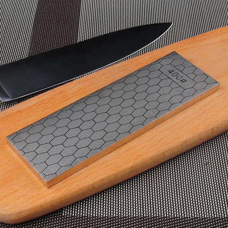 [Vidéo] RSCHEF 400 grain 1000 grain double face nouveau design couteau diamant affûtage pierre patins à glace plaque métallique support de guidage