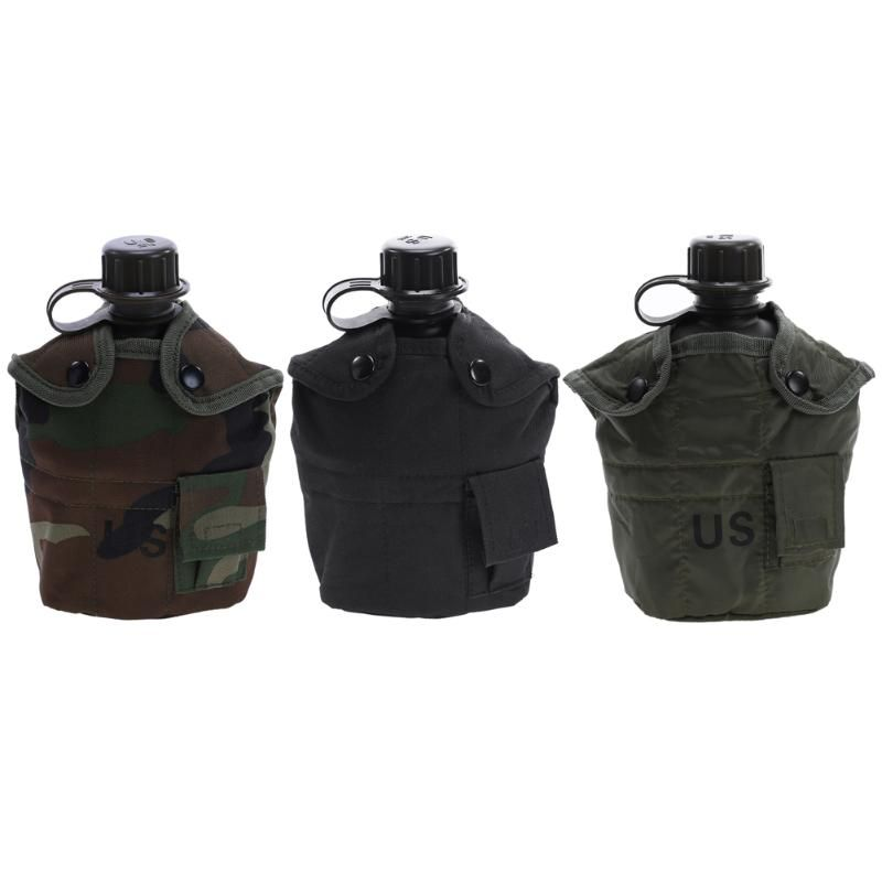 1 Pcs Camouflage Military Molle Tactical Water Bottle Bays Outlook Kettle Carrier Holder Hiking Bicycle Camping Sport Water Bag