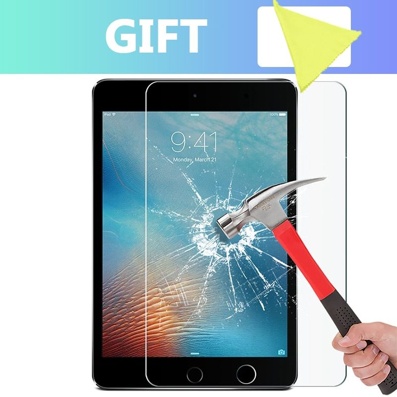 9H Screen Protector for iPad mini 2 3 4 5 Tempered Glass For iPad Pro 11 10.5 Screen Protect For iPad Air 2 2017 Pro 9.7 2018