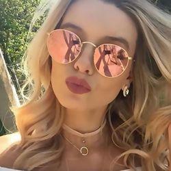 HAPIGOO Vintage lunettes de Soleil Rondes Femmes De Mode Marque Designer Classique Vapeur Punk Miroir Lunettes de Soleil Pour Femme UV400