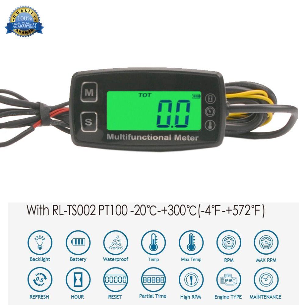 Compteur horaire moteur tachymètre inductif jauge rétro-éclairé numérique réarmable pour 2/4 temps moteurs moto planeur marin ATV