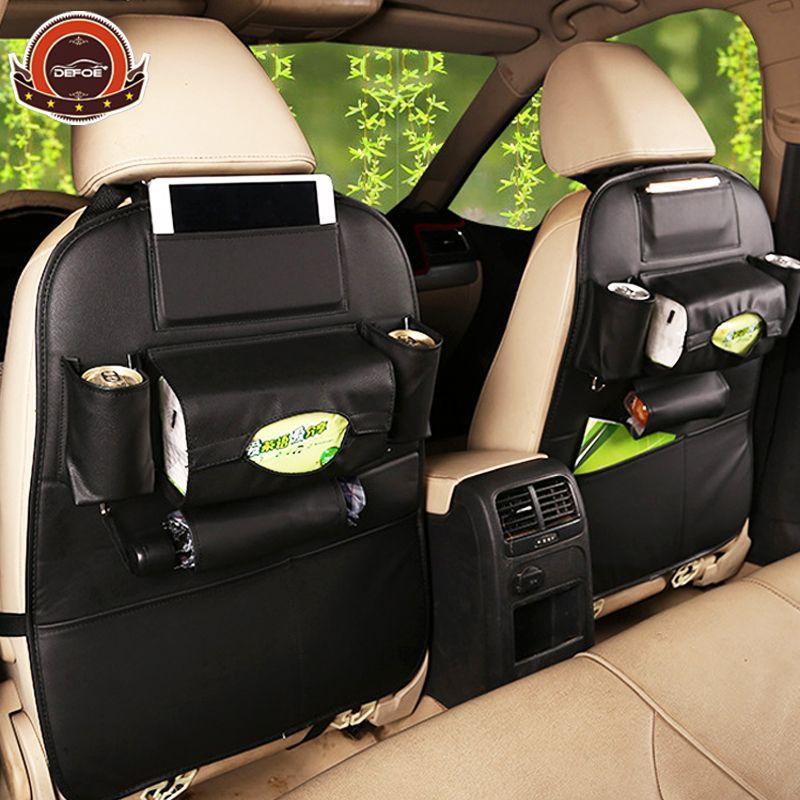 2018 New Car <font><b>seat</b></font> storage bag Hanging bags car <font><b>seat</b></font> back bag Car product Multifunction vehicle storage box car styling freeship