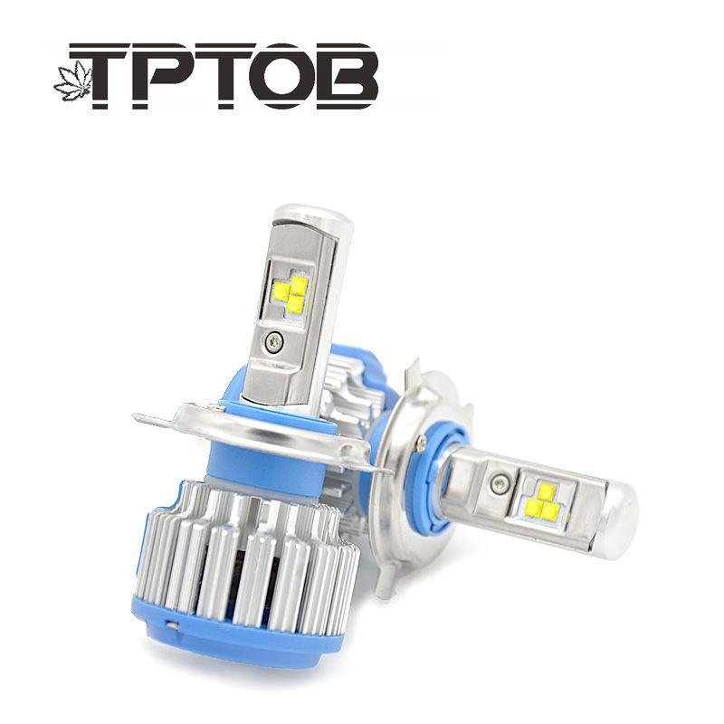 TPTOB T1 turbo Led Car Headlight H1 H3 H4 H7 H8 H9 H11 9004 9005 9006 880 881 DRL Daytime Running Light canbus lamp