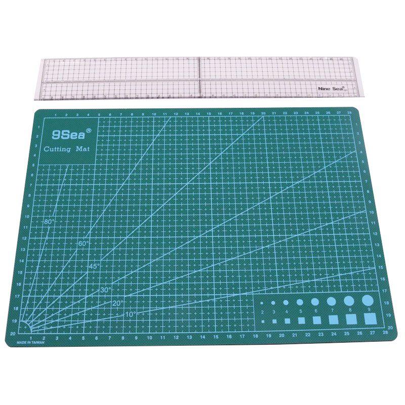 Patchwork outil combinaison ménage main couture fournitures acrylique matériel 5*30 cm Patchwork règle et A4 tapis de coupe
