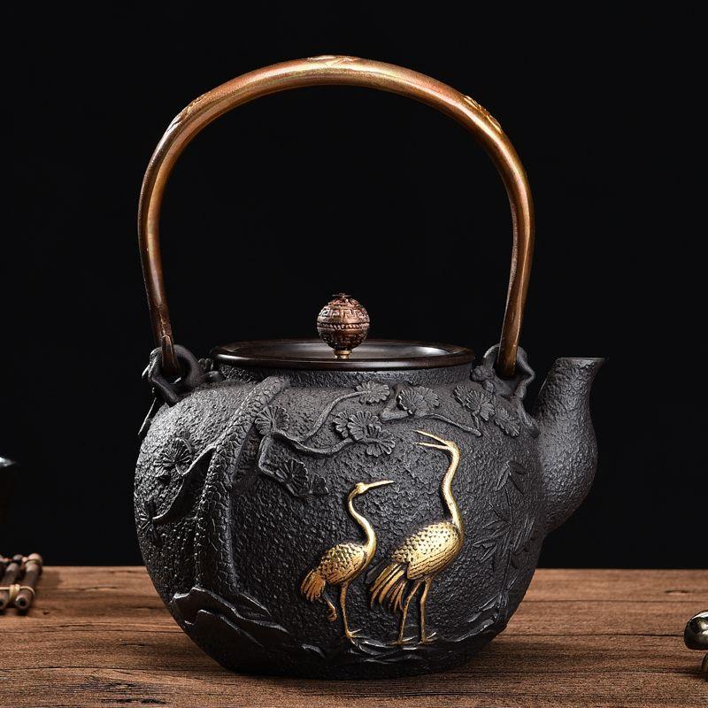 1300ml,1.3L, NEW Japanese Teapot Cast Iron Tetsubin Tea Pot Authentic Cast Iron Teapot Set Tea Pot Tetsubin Kettle