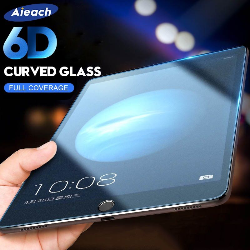 6D Curved Edge Screen Protector For iPad Pro 11 10.5 9.7 Protective Tempered Glass On The For iPad 2017 2018 Air 1 2 mini 2 3 4