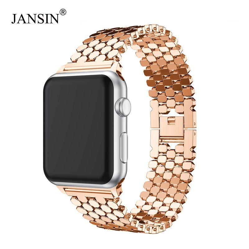 Pour Apple Bracelet de montre 38mm 42mm 40mm 44mm acier inoxydable Bracelet lien Bracelet montre Bracelet pour i Bracelet de montre s série 4 3 2 1