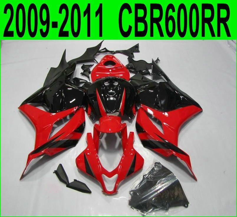 100% fit für honda cbr600rr 2009/2011/2012 (schwarz/rot Verkleidungen) cbr 600rr 09*10 11 Verkleidung kit SZ75
