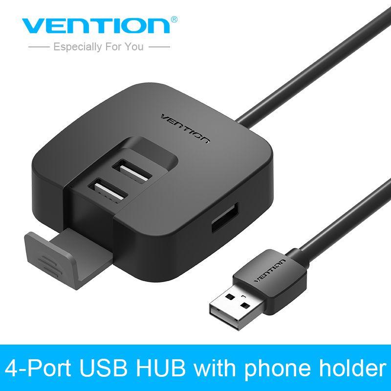 Convention Mini 4 Port USB HUB 2.0 Haute Vitesse Externe USB 2.0 Splitter Commutateur Soutien OTG Fuction pour Ordinateur Portable Lecteur de Carte PC Tablet